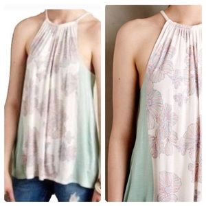 New Deletta Anthropologie Mint Sorin Halter Tank S
